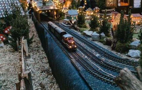 クリスマスマーケット【ドイツ】ウルム子供メルヘンの森の汽車