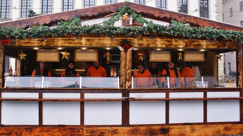 アウグスブルグ クリスマスマーケット 屋台菜食主とビーガン、グルテンフリー